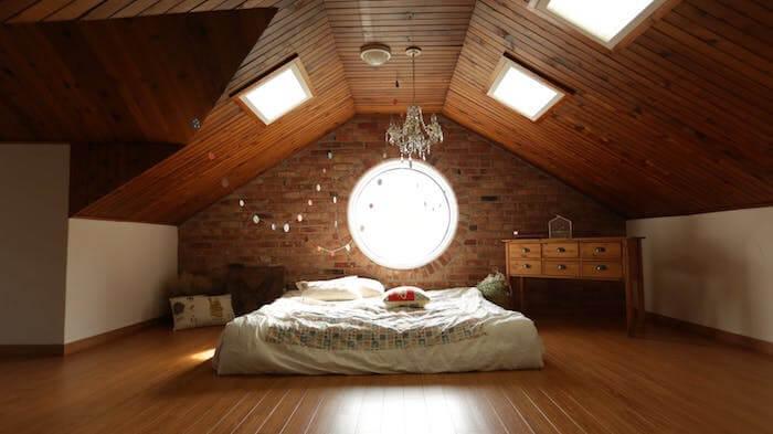 Braunes Schlafzimmer